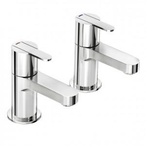 Pegler Strata Bath Pillar Taps - Chrome [4K6013]