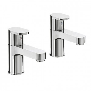 Pegler Strata Blade Bath Pillar Taps - Chrome [4K6051]