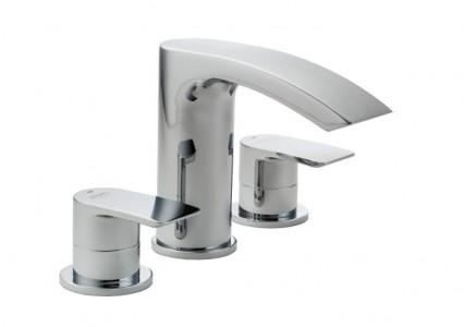 Pegler Lamina 3 Hole Bath Filler - Chrome [4K9003]