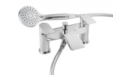 Pegler Lamina Bath Shower Mixer with hose & handset - Chrome [4K9005]