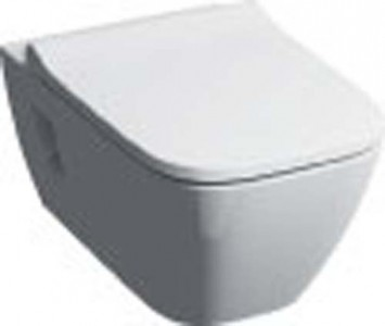Geberit Smyle Slim seat and cover to suit premium WC (wrap over) - White [500238011]