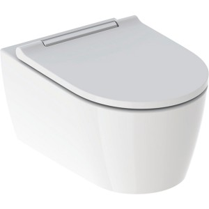 Geberit One Wall Mounted Shrouded Pan - Gloss Chrome [500202011]