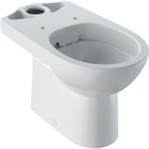 Geberit Selnova Rimless Floorstanding Pan - White - For Close Coupled Exposed Cistern 6/4 or 5/3 Litre [500285016]