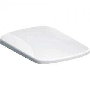 Geberit Selnova Square Soft Close Toilet Seat - Quick release top fix hinges - White [500336011]