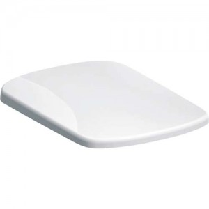 Geberit Selnova Square Toilet Seat - Stainless Steel Hinges - White [500338011]