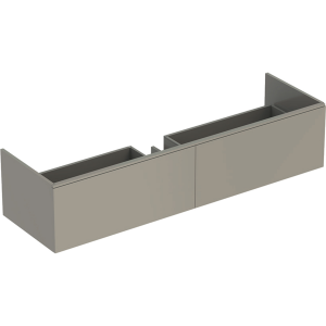 Geberit 500346001 Xeno2 1600mm Vanity Unit with Two Drawers & LED Lighting - Grey