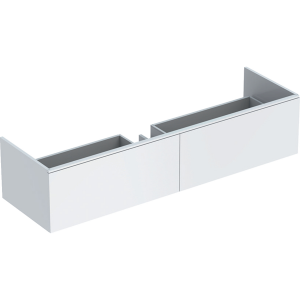 Geberit 500346011 Xeno2 1600mm Vanity Unit with Two Drawers & LED Lighting - White