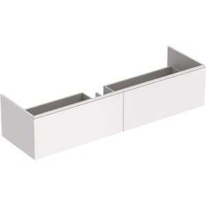 Geberit 500347001 Xeno2 1400mm Vanity Unit with Two Drawers & LED Lighting - White