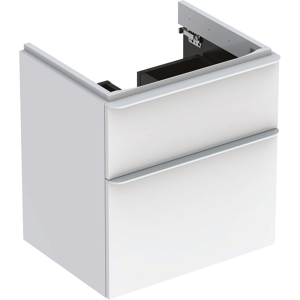 Geberit 500352001 Smyle Square 600mm Vanity Unit & Two Drawers - White
