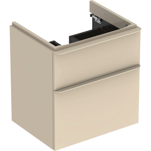 Geberit 500352JL1 Smyle Square 600mm Vanity Unit & Two Drawers - Sand