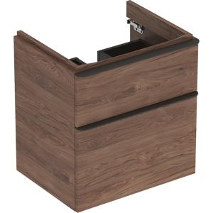 Geberit 500352JR1 Smyle Square 600mm Vanity Unit & Two Drawers - Hickory