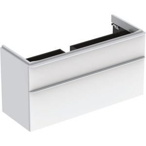 Geberit 500355001 Smyle Square 1200mm Vanity Unit & Two Drawers - White