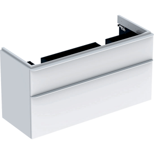Geberit 500356001 Smyle Square 1200mm Unit for Double Basin & Two Drawers - White