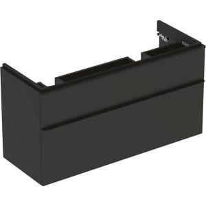 Geberit 500356JK1 Smyle Square 1200mm Unit for Double Basin & Two Drawers - Lava