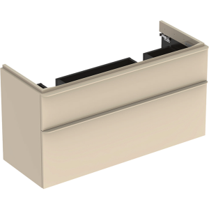 Geberit 500356JL1 Smyle Square 1200mm Unit for Double Basin & Two Drawers - Sand
