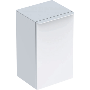 Geberit 500359001 Smyle Square Reduced Depth Low Side Unit with Right Door - White