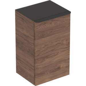 Geberit 500359JR1 Smyle Square Reduced Depth Low Side Unit with Right Door - Hickory