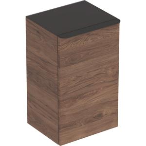 Geberit 500360JR1 Smyle Square Reduced Depth Low Side Unit with Left Door - Hickory