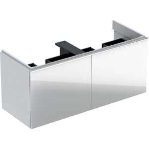 Geberit 500613012 Acanto 1190mm Vanity Unit for Double Basin with Drawers - White