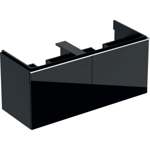 Geberit 500613161 Acanto 1190mm Vanity Unit for Double Basin with Drawers - Black