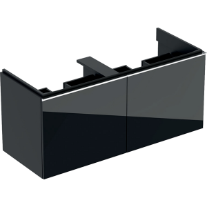 Geberit 500613JK2 Acanto 1190mm Vanity Unit for Double Basin with Drawers - Lava