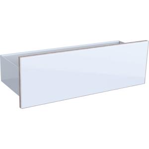 Geberit 500617012 Acanto Floating Shelf with Three Hooks - White
