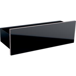 Geberit 500617161 Acanto Floating Shelf with Three Hooks - Black