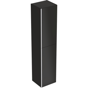 Geberit 500619161 Acanto Tall Cabinet with Two Doors - Black