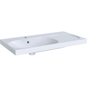Geberit Acanto Basin with Shelf 90cm No tap hole - right hand shelf - White [500626012]