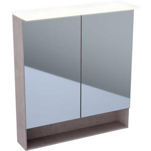 Geberit 500645001 Acanto 750mm Mirror Cabinet with Doble Doors