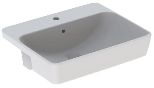 Geberit VariForm Square Semi-Recessed Basin 55cm. 1 tap hole - White [500681011]