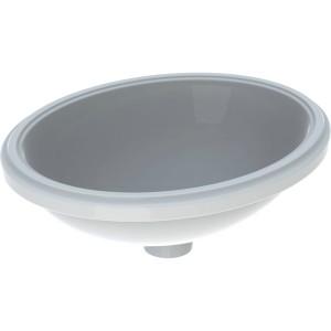 Geberit VariForm Oval Undercounter 42 x 33cm. No tap hole - White [500748012]