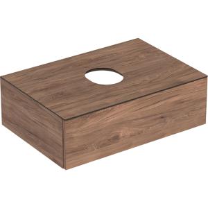 Geberit 501162001 Variform 750mm Cabinet for Lay-on Basin & One Drawer - Hickory