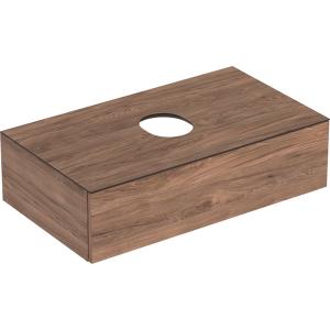 Geberit 501168001 Variform 900mm Cabinet for Lay-on Basin & One Drawer - Hickory