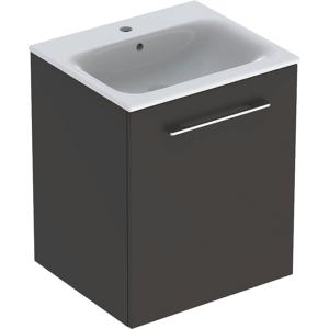 Geberit 501249001 Square S 550mm Slim Basin & One Door Vanity Unit - Lava