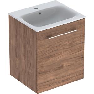Geberit 501250001 Square S 550mm Slim Basin & One Door Vanity Unit - Hickory