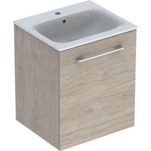 Geberit 501251001 Square S 550mm Slim Basin & One Door Vanity Unit - Light Hickory