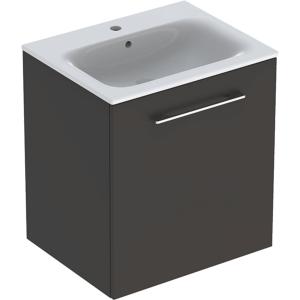 Geberit 501253001 Square S 600mm Slim Basin & One Door Vanity Unit - Lava