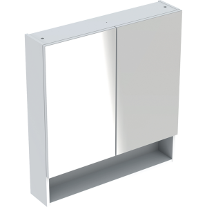 Geberit 501264001 Square S 588mm Mirror Cabinet with Two Doors - White