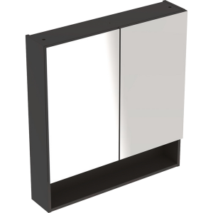 Geberit 501265001 Square S 588mm Mirror Cabinet with Two Doors - Lava
