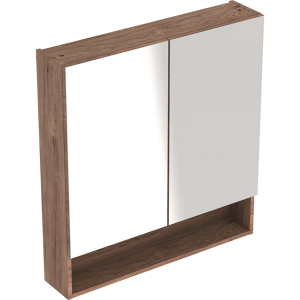 Geberit 501266001 Square S 588mm Mirror Cabinet with Two Doors - Hickory