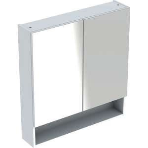 Geberit 501268001 Square S 788mm Mirror Cabinet with Two Doors - White
