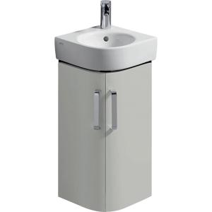 Geberit 501483001 Selnova Compact Corner 450mm Hand Basin Unit - Grey