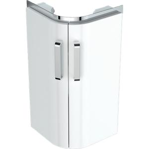 Geberit 501484001 Selnova Compact Corner 450mm Hand Basin Unit - White