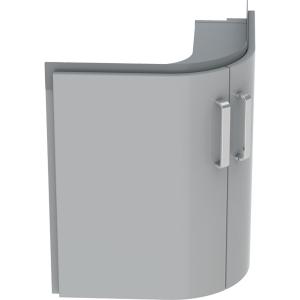 Geberit 501485001 Selnova Compact 700mm Corner Basin Unit - Grey