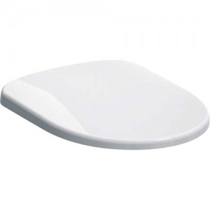 Geberit Selnova Compact Toilet Seat - Metal Hinges fastening from above - White [501575011]