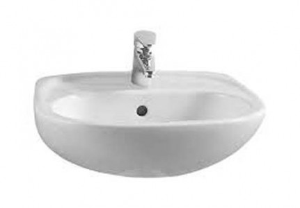 VitrA 50780030623 Commercial Cloakroom Basin 450 x 355mm 2 Tapholes White