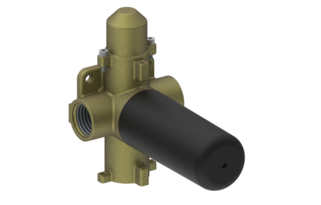 Graff - PHASE 3/4 INCH concealed diverter with 2 outlets and volume control valve - Rough -  [E-8052]