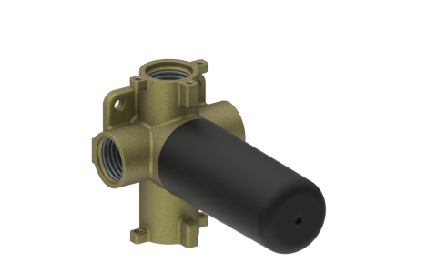 Graff - PHASE 3/4 INCH concealed diverter with 3 outlets and volume control valve - Rough -  [E-8053]