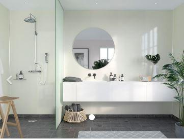FIBO F520-HG Timeless High Gloss Aqualock Wall Panel 2400x600mm Ivory